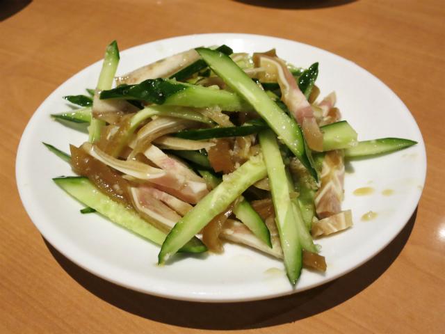 黄瓜猪耳/ミミガとキュウリの冷製 399円