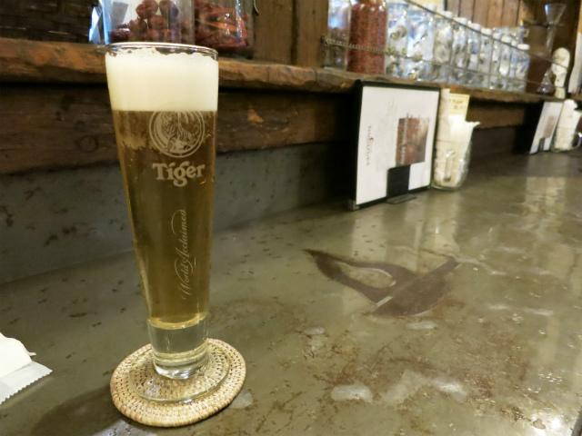 タイガービールを生で!