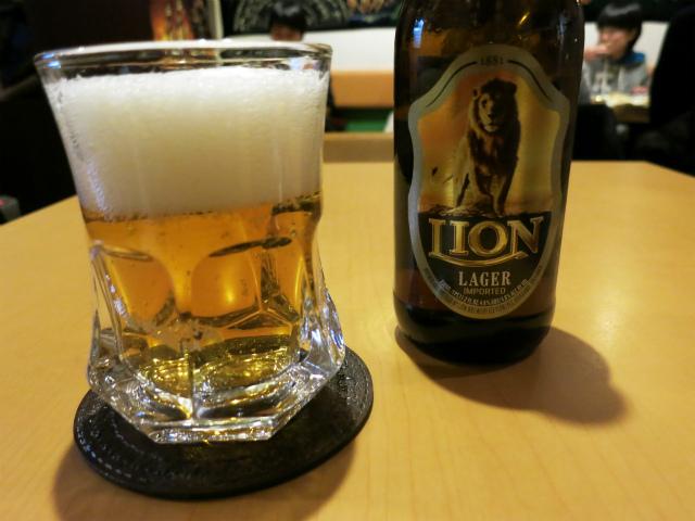 スリランカビール(LION LAGER) 600円
