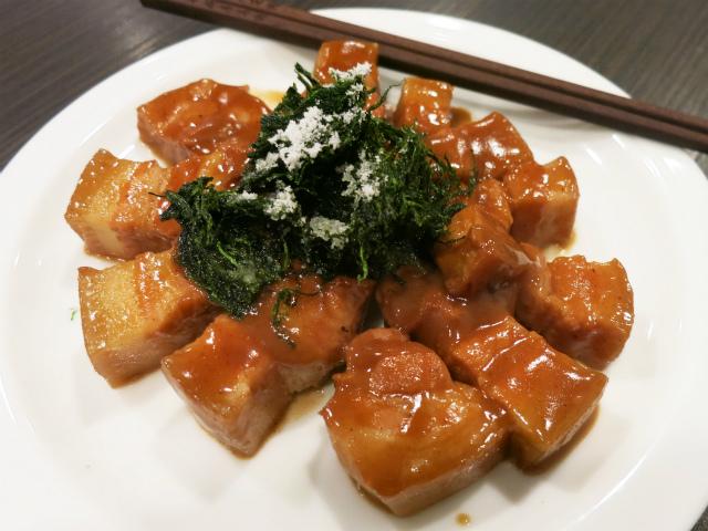 高格苔菜小方烤(特製角煮の青のり掛け) 1080円