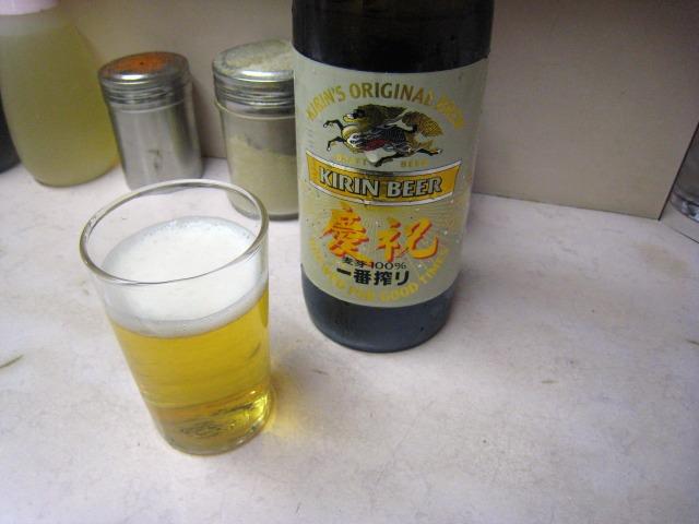 ビール(大瓶) 550円