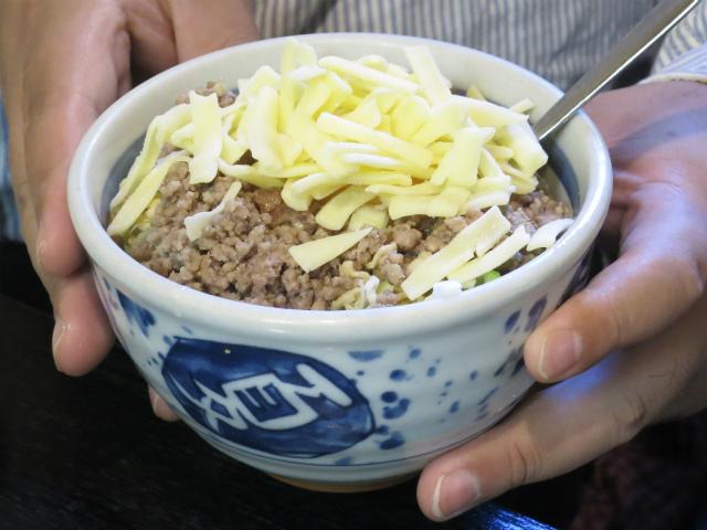 牛チーズ玉天 750円
