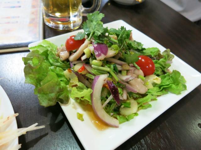 ヤムサイタン(コブクロのサラダ) 1300円