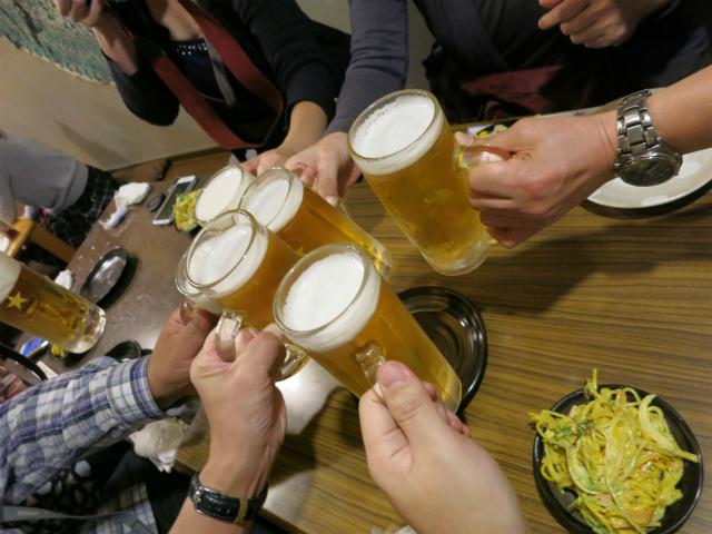 生ビールでかんぱーい