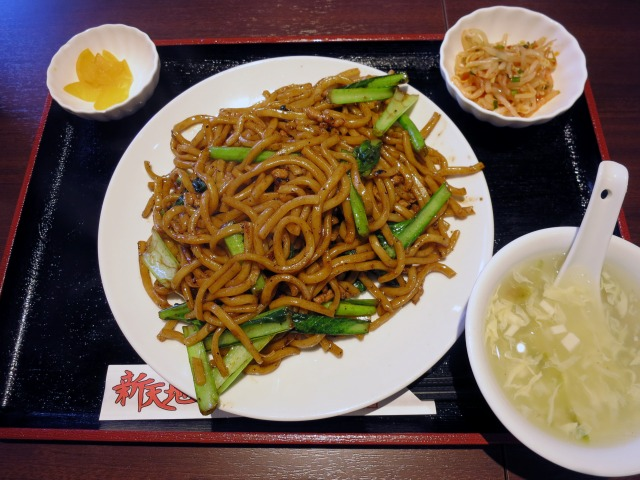 上海粗炒麺(上海太い焼きそば) ランチセット 850円