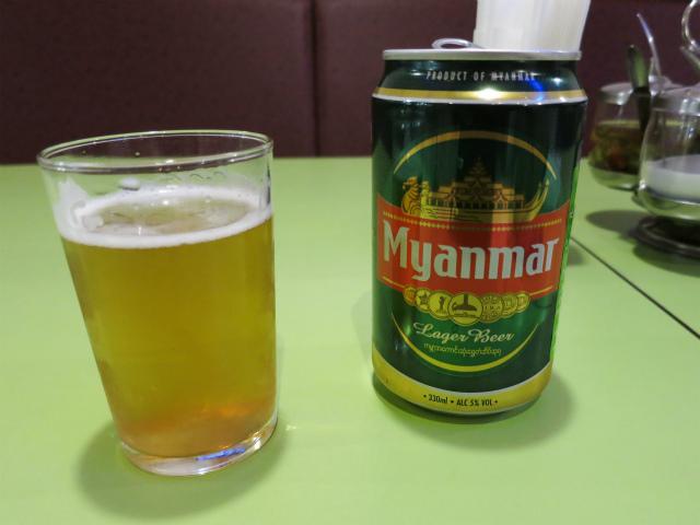 ミャンマービール 580円