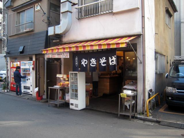 ウインズ渋谷前の焼きそば屋