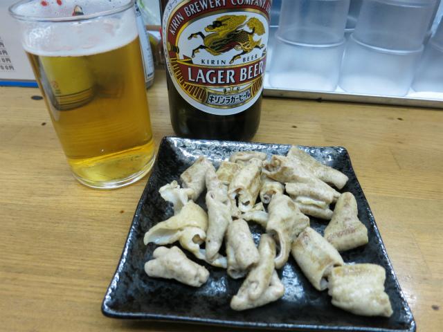 瓶ビールとホルモン焼