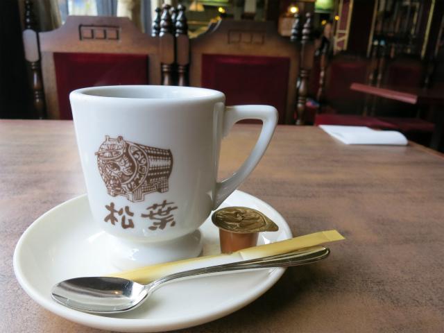 食後にコーヒーで一服