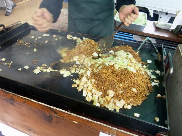 田中屋製麺所の焼きそば露店