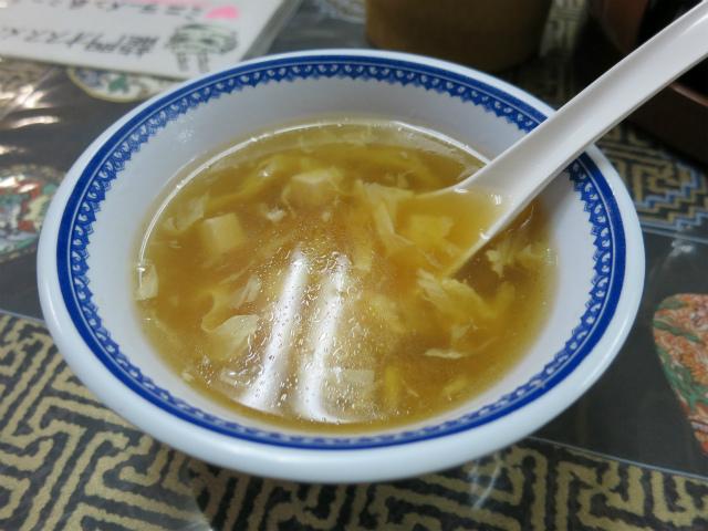 つけあわせのかき玉スープも美味しい