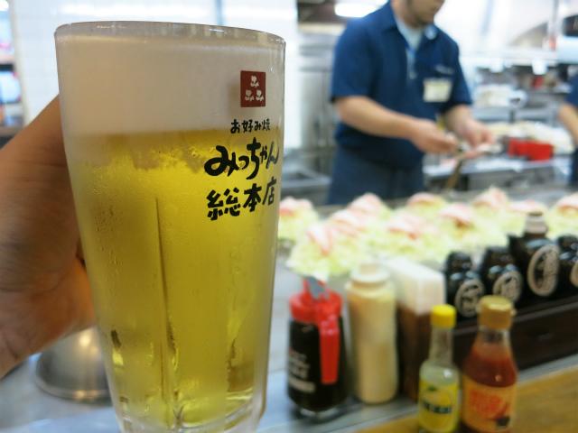 午前中から呑む生ビール、美味いっす!