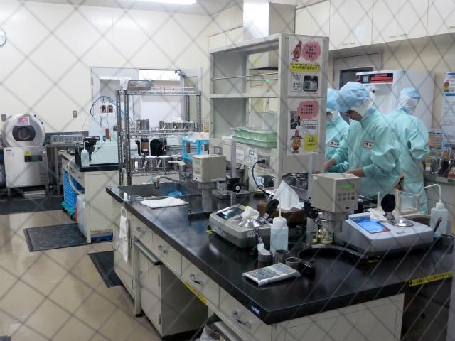 分析室の様子 実験室のような雰囲気です