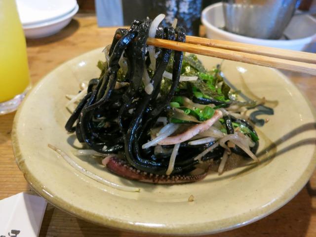 イカスミ麺焼きそば ハーフ 350円