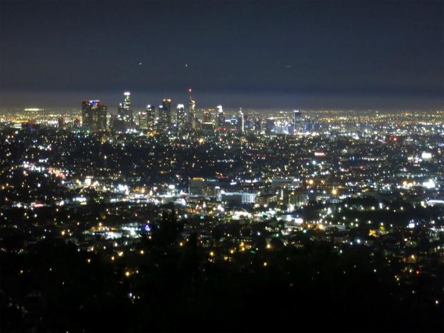 グリフィス天文台からLAの夜景
