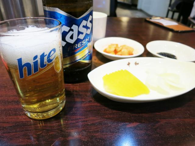 ビール ₩4,000-