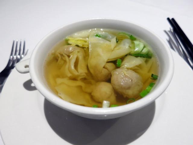 Won Ton Soup(雲呑湯) £2.60