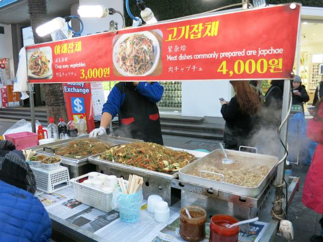 チャプチェ(잡채/雜菜)専門の屋台