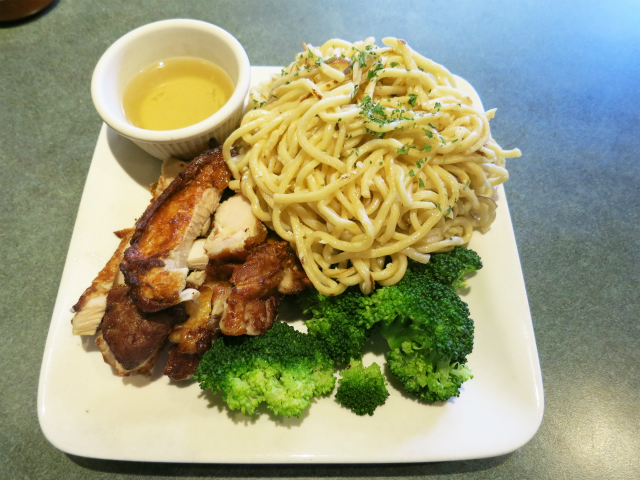 Five Spice Chicken w/ Garlic Noodles $11.00-