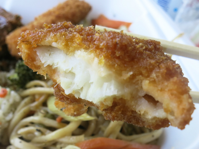 白身魚フライ(Fish Katsu)はガッツリ2切れ