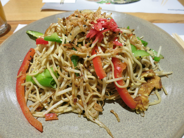 chicken and prawn yaki soba £8.50