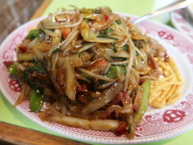 Roast Pork Chowmein(Old Style) $9.75