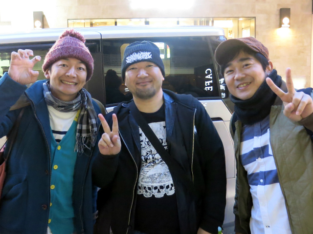 ハマカーンの浜谷さん、神田さんと記念撮影!