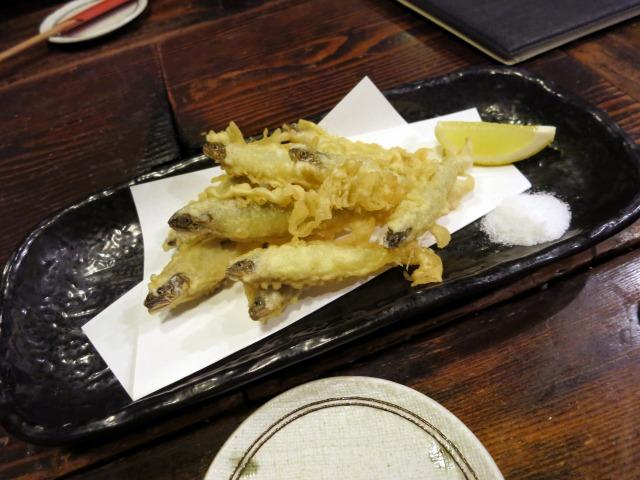 稚鮎天ぷら 860円