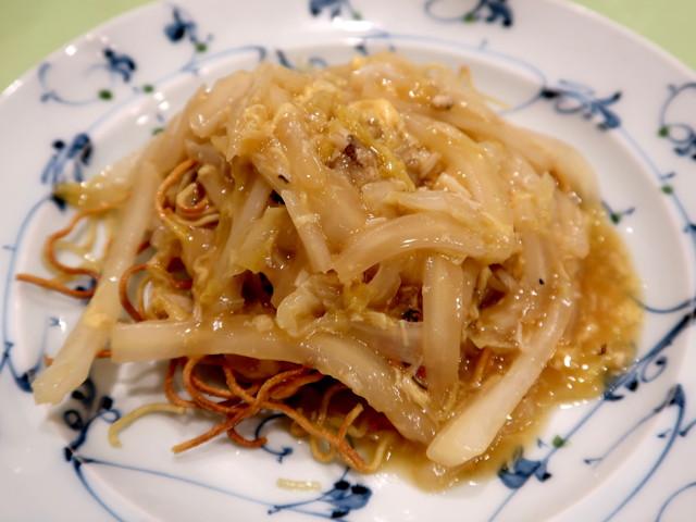 上海蟹の焼きそば/蟹粉炒麺