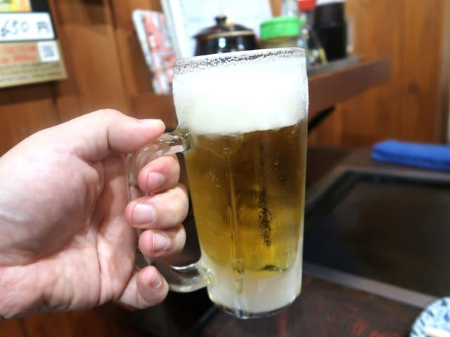 お好み焼きにはビールでしょ!