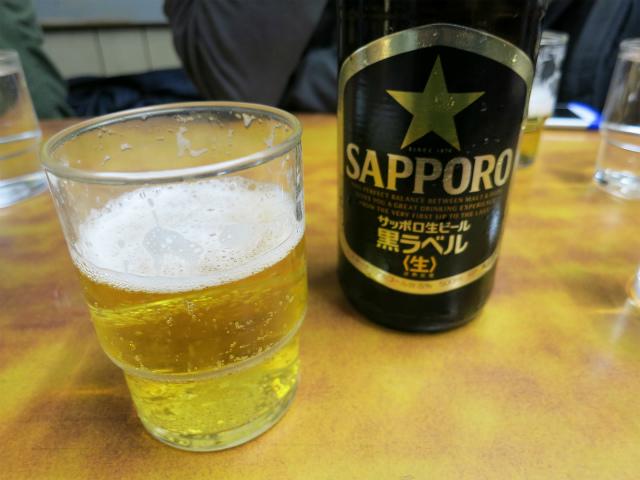 瓶ビール(450円)