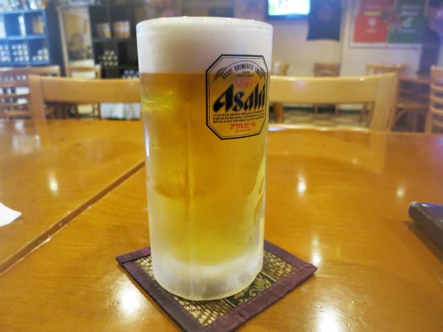 生ビールはアサヒスーパードライ