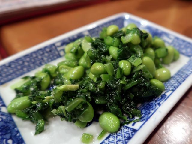 碧緑毛豆(ちんげん菜と枝豆) 800円