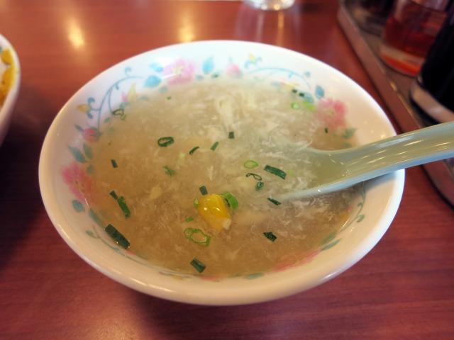 かきたまごとコーンのスープも美味