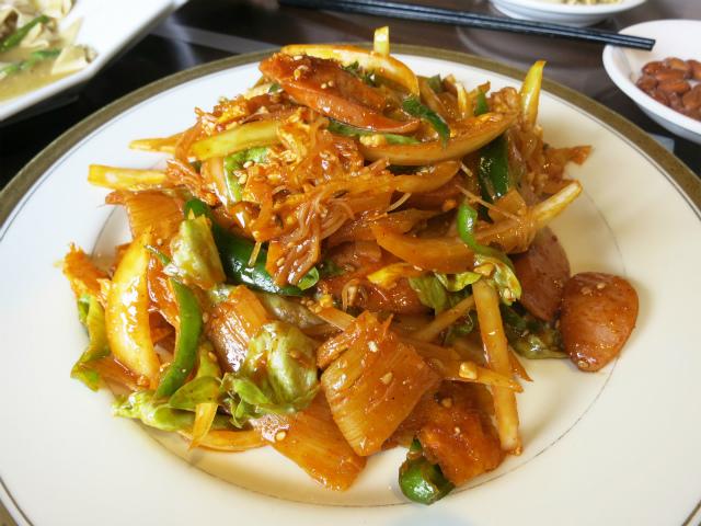 冷麺焼き(烤冷面) 1200円