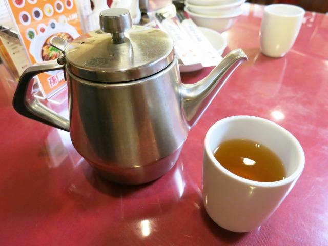 温かい中国茶が美味しい