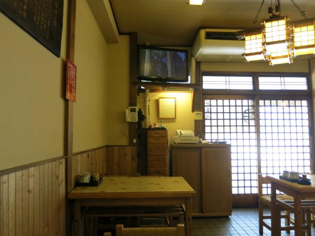 横須賀市 蕎麦処 うち田 店内の様子