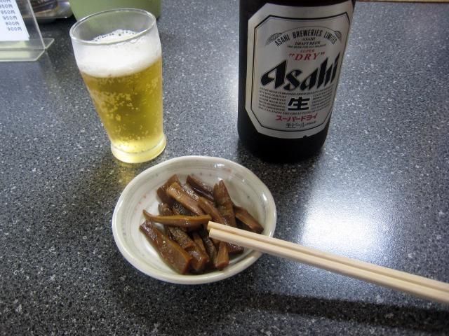 ビールとメンマ