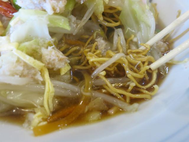 麺の下部がスープに浸ってるんです