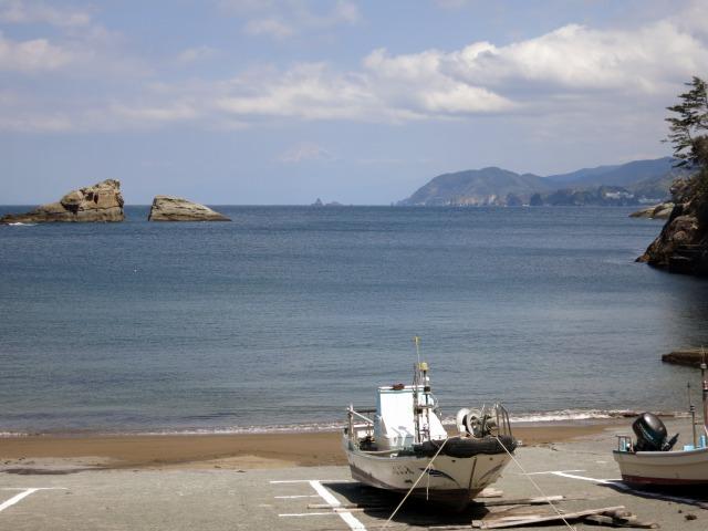 雲見港から富士山を望む