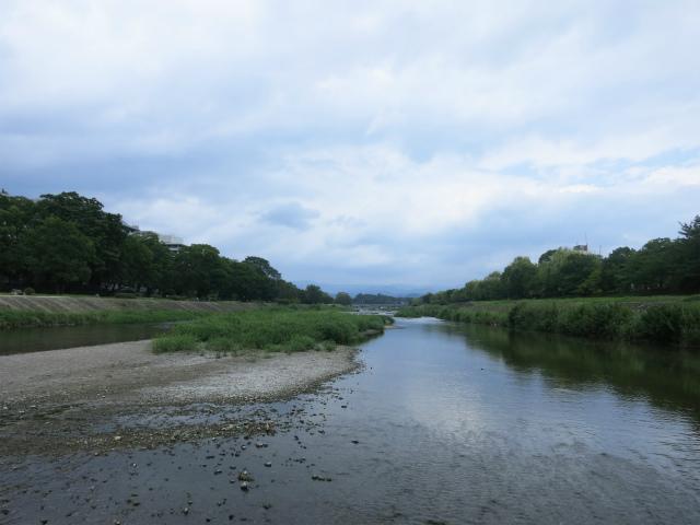 京都市街を流れる鴨川