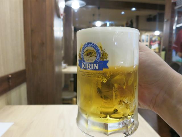 生ビール(中) 390円