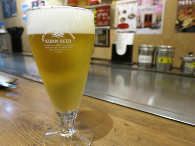 グラス生ビール 280円