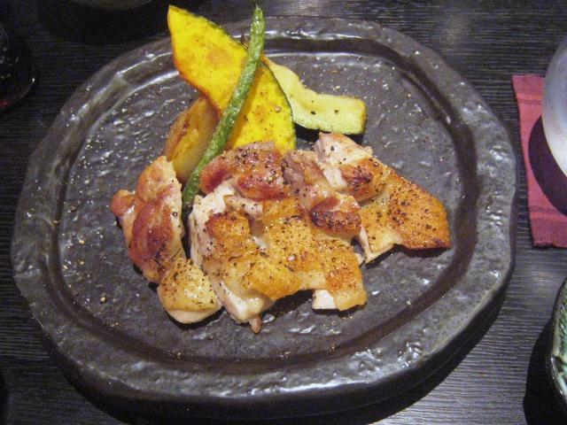 大和肉鶏の黒胡椒焼き 1140円