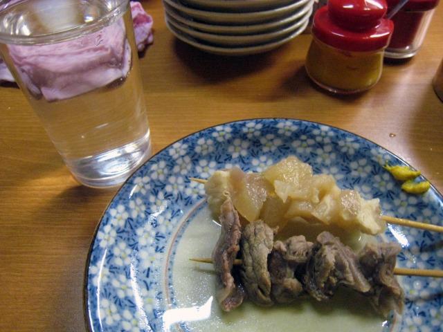 日本酒と牛スジ(切り出しとアキレス)