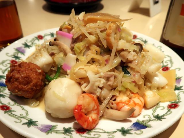王さんの特上皿うどん(太麺) 1500円
