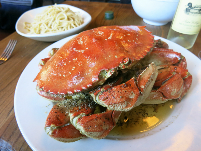 The Roast Crab w/ Garlic Noodles