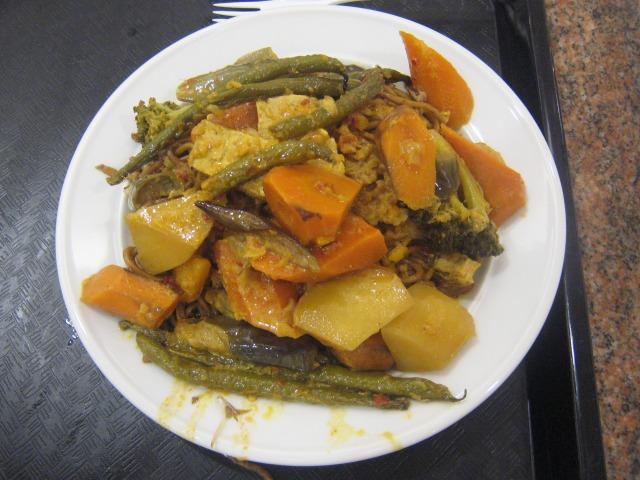 野菜カレー+ミーゴレン