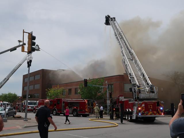 目的地の近所で火事でした