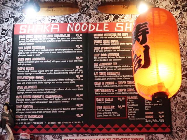 Shaka Noodle Shack メニュー